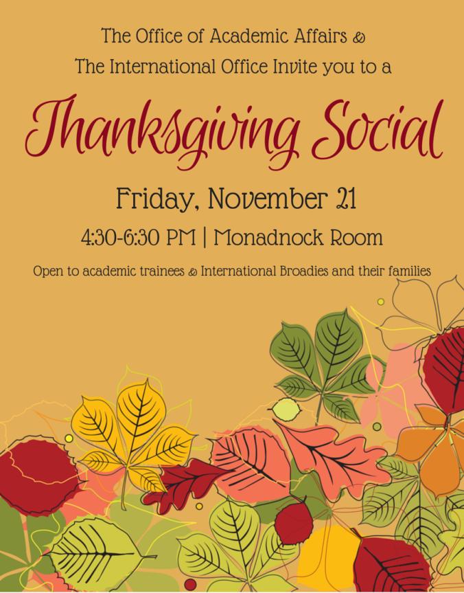 2014 Thanksgiving Social