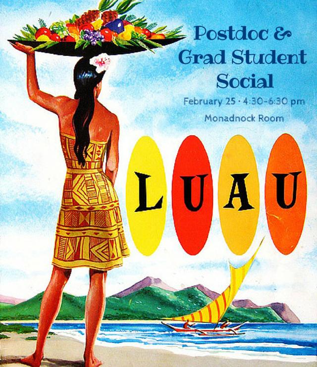 Postdoc &Grad StudentSocial